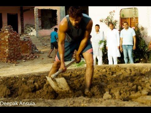 Stength building exercises   Guru Rambeer Akhada , Sampla Haryana