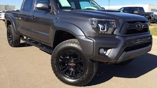 Pre Owned Grey 2012 Toyota Tacoma 4WD Double Cab V6 Auto Review Wainwright Alberta