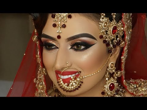 Xxx Mp4 Real Bride Asian Bridal Traditional Makeup Dramatic Winged Liner Cat Eyes And Red Lipstick 3gp Sex