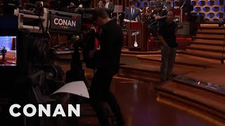 Evan Peters Shows Off His TV-Humping Skills  - CONAN on TBS