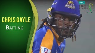 PSL 2017 Match 20: Karachi Kings vs Islamabad United - Chris Gayle Batting