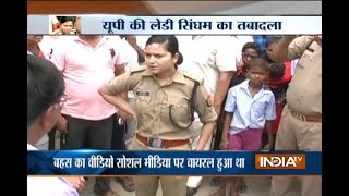 Woman police officer Shrestha Sharma who confronted BJP leader transferred from Bulandshahr