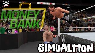 WWE 2K16 SIMUALTION John Cena Vs Aj Styles MITB 2016