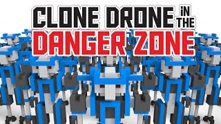 Human Robots with Laser Swords! - Clone Drone in the Danger Zone Gameplay