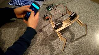 4-Legged two-servo walking Arduino robot controlled by Blynk