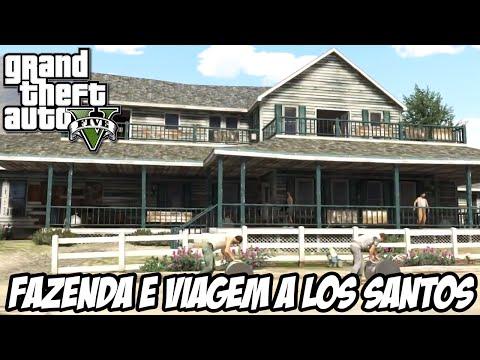 GTA V Nova Geração Botando Fogo na Fazenda e viagem à Los Santos em primeira pessoa