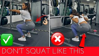 6 COMMON GYM MISTAKES PART 2 - LEGS & BOOTY | SQUAT BASICS & MORE