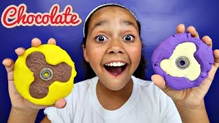DIY Chocolate Candy Fidget Spinner! (Play Doh Molds) Kids Toy Review | Toys AndMe