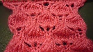 غرزة حبة اللوز تريكو بطريقة جديدةمبتكرة  Knitting - Stitches