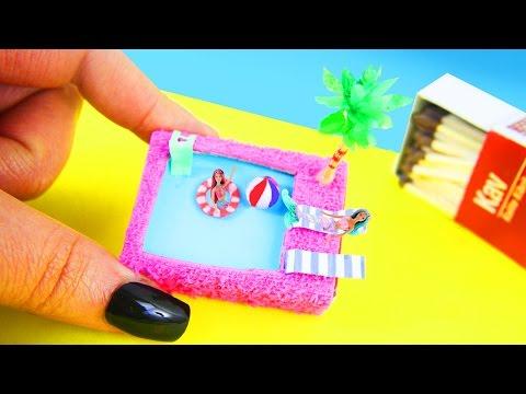 DIY Piscina Pileta en miniatura con una caja de cerillas