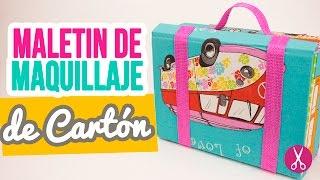 Maletin Neceser de Maquillaje con Cartón y Tela! | SORTEO CERRADO | Cartonaje Catwalk