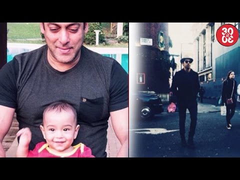 Salman Bonds With Nephew Ahil | Varun Looking Dapper In London