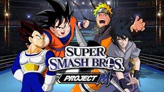 SSBPM: Goku VS Vegeta VS Naruto VS Sasuke (Duels)