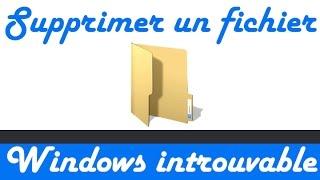 Comment effacer un fichier/dossier introuvable ( qui ne se suprime pas)