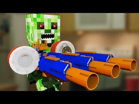 Nerf War Nerf meets Minecraft 4 Minecraft In Real Life