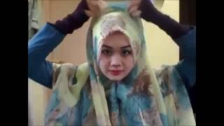 Tutorial wide shawl ala arab