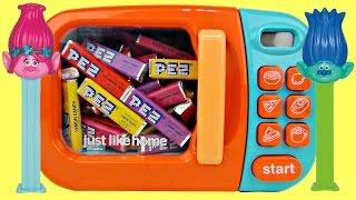 Magical Microwave, PEZ Candies Trolls Poppy Branch Dispenser, Gum Balls, Fun Magic Toy Surprise TUYC