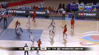 """بطولة كأس العالم لكرة السلة - ثلاثيات عمالقة السلة """" أنجولا VS أمريكا """" ... متعة كرة السلة"""