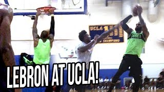 LEBRON JAMES Hoops at UCLA With LiAngelo Ball & Other NBA Players!