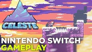 CELESTE Nintendo Switch Gameplay: Hard Mode (Forsaken City + Old Site) @ GDC 2017