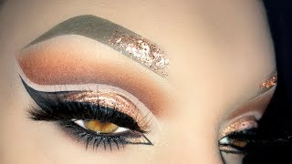 HOT AF Sexy Arabic Rose Gold Cut Crease - Xmas 2017 Makeup Tutorial