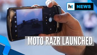 Moto Razr: Motorola launches its first foldable phone