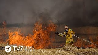 Palestinians use kites and balloons to burn more than 2,250 acres in Israel TV7 Israel News 08.06.18