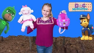 ASSISTANT Doc McStuffins First Responders Backpack with Paw Patrol + PJ Masks + Puppy Dog Pals