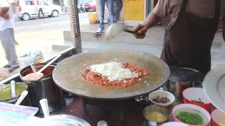 Pav Bhaji Tawa Butter pulav preparation - Indian street food