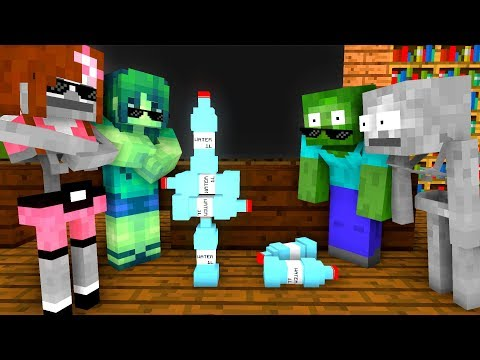 Xxx Mp4 Monster School BOTTLE FLIP Challenge Minecraft Animation 3gp Sex