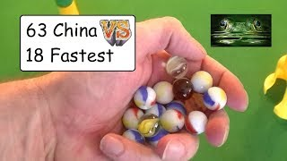 63 China Marbles RACE 18 Worlds Fastest Marbles (Odds not good)