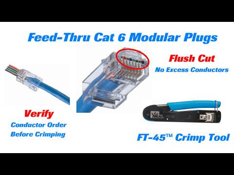 IDEAL Cat 6 Feed Thru Modular Plugs Long