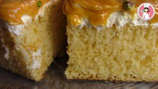 الكيكة الاسفنجية الرطبة بصوص الحليب والكراميل  Trıleçe  أطيب والذ كيك مع رباح محمد ( الحلقة 354 )