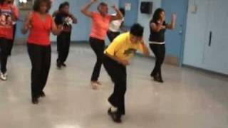 The Texas Zydeco Slide Line Dance with The Line Dance Queen