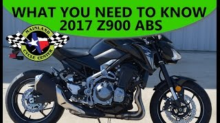$8,799:  2017 Kawasaki Z900 ABS   What You Need To Know