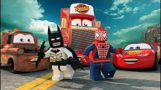 DISNEY LEGO Cars Toys Movies | Lightning McQueen Mack Mater | Superman Batman Joker