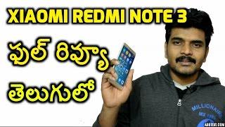 redmi note3 full review telugu