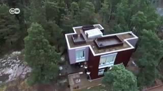 منزل خشبي فوق صخرة من العصر الجليدي | يوروماكس