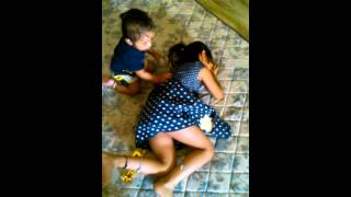 Sleeping on sister