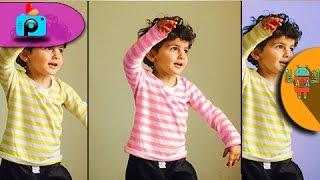 كيفية تغيير لون الملابس او لون الخلفية ببرنامج picsart للاندرويد | application