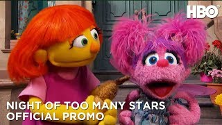 Abby Cadabby & Julia From Sesame Street Are Excited | Night Of Too Many Stars | HBO