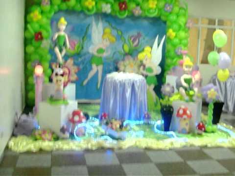 Festa Aniversario Carol 8 Anos Decoração Sininho Arrumação 15 10 2011 .MOV