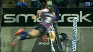 NRL : Josh Morris incredible match saving tackle