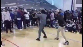 تحدي بين جزائريين و مغاربة في الرقص على الشعبي بطريقة مضحكة في فرنسا