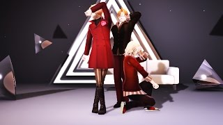 【MMD APH】WAVE【Blonde Trio】