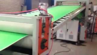 HDPE three layers sheet board extruder machine / HDPE co-extrusion machine  for Iran market