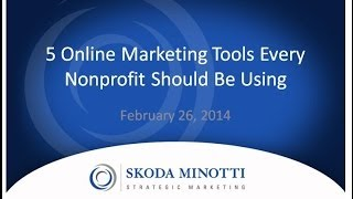 5 Online Marketing Tools for Nonprofits