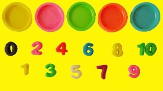 Learn Colors Learn to Count 1 to 10 Counting in English Play Doh Numbers Letters n' Fun Playset