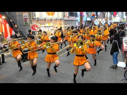 京� 橘高校吹奏� 部 大手筋商店街パレード Kyoto Tachibana SHS Band