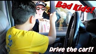 BAD KIDS driving parents car!! | Go get ice cream! | Mom FREAKS OUT!!! | Rad Kids TV